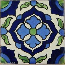 "90 Ceramic Clay  Mexican Tiles Talavera 4x4"" C267"