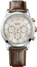 **NEW** MENS HUGO BOSS ROSE GOLD CLASSIC CHRONO SPORTS WATCH - 1512728 -RRP £299