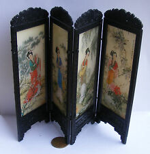 1:12 Folding Chinese Ladies Screen Dolls House Miniature Bedroom Accessory