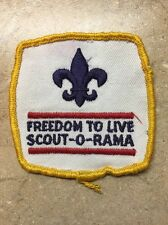 FREEDOM TO LIVE SCOUT-O-RAMA BSA PATCH