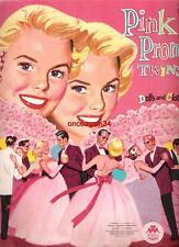 VINTAGE UNCUT 1956 PINK PROM TWINS PAPER DOLLS~#1 REPRODUCTION~UNIQUE RARE SET!