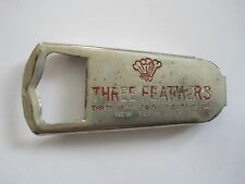 Advertising Bottle Opener Vintage Three Feathers Distributors New York City