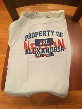 Teefury Men's SMALL S Grey T-Shirt Property of Negan Alexandria The Walking Dead