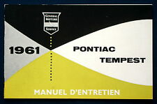 Owner's Manual * Betriebsanleitung 1961 Pontiac Tempest (F)