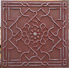 PL09 faux tin PVC ceiling tiles old Iron red 3D Decorative panels 10tiles/lot