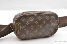 Auth Louis Vuitton Monogram Pochette Gange Cross Body Bag M51870 LV 30933