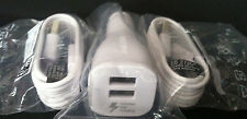 Samsung Dual Fast Car Charger + 2x 4' Micro USB Cable for Galaxy S6 S7 Note 5