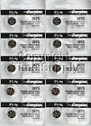 10 ENERGIZER 387S 387 Watch Battery Bulova Accutron 214 With SPACER RING 0%Hg