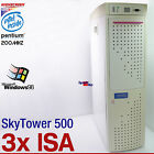 3x ISA HIGHSCREEN SKYTOWER 500 COMPUTER PC PENTIUM MMX 200MHZ OLD GAMES WIN 98