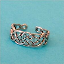 TOE RING STERLING SILVER 925 CELTIC KNOT ADJUSTABLE FOOT JEWELLERY WOMEN BEACH