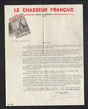 """SAINT-ETIENNE (42) IMPRIMERIE / REVUE de SPORTS LOISIRS """"CHASSEUR FRANCAIS"""" 1955"""