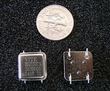 Vectron 5V Crystal Oscillator 20MHz HGTHCA20M000, SMD Half Size,Gull Wing,Qty.4