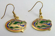 University of Florida Gators Gold Tone Charm Earrings - NCAA Licensed Jewelry