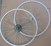 "26"" Bicycle Mountain Bike Cycle Wheels Front &/or Rear add Shimano 6 / 7 Speed"