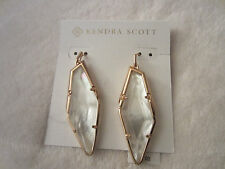 Kendra Scott Bexley Abstract Dangle Earrings  Ivory Mother of Pearl & Rose Gold