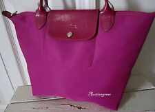 LONGCHAMP NEO LePliage DEROSE PINK NYLON & LEATHER TOTE BAG SHOPPER CARRY ALL