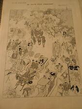 En Route pour Longchamp ! dessin de Pierlis Print Art Déco 1909