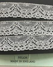 Vintage Lace.  English Nylon Lingerie Lace, sold by the yard.