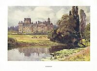 HASLEHUST VINTAGE PRINT : THORESBY THE DUKERIES