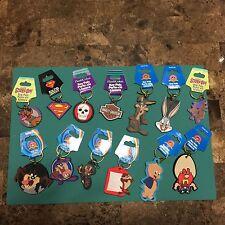 2 Various Cartoon Character Keychains BugsBunny Taz Looney Tunes Scooby Doo
