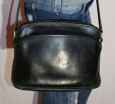 Vtg. COACH USA Black Small Medium Leather Shoulder Hobo Tote Satchel Purse Bag