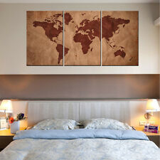 HD Canvas Print Canvas Picture Wall Art Painting Home decor World Map+Wood Frame