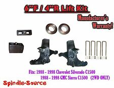 """1988 -1998 Chevy GMC C15 C1500 C2500 2WD 6"""" / 4"""" Spindle Blocks Spacer Lift Kit"""