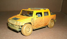 """1/40 Hummer H2 Diecast Model - Dirty Unwashed 2005 Hummer SUT Pick Up Truck  5"""""""