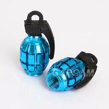 Blue Tire Wheel Valve Cap For Suzuki LT Quadsport Quadracer 4WD Trailbuddy