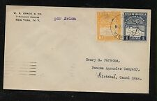Venezuela  first flight cover to Canal Zone  1930         HS1012