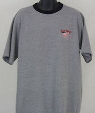 Detroit Red Wings Large Gray Black Short Sleeve T-Shirt  L