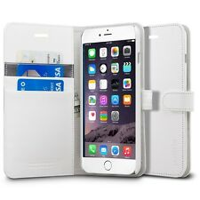 Apple Iphone 6 6s 4.7 pu leather flip cover wallet book case white card slot