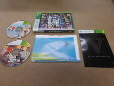 Xbox 360 Pal Game GRAND THEFT AUTO V FIVE with Box & Instructions Map