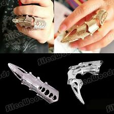 Cool Gothic Punk Style Ring Silvery  Nail Long Vintage Finger Retro Armor New