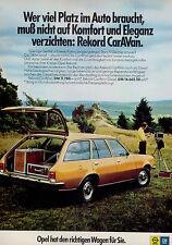Opel-Rekord-CarAVan-1974-Reklame-Werbung-vintage print ad-Vintage Publicidad