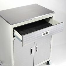 Garage Metal One Drawer Storage Tool Box Cabinet Stainless Steel Workbench Top