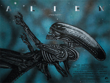 ALIEN DEEP SPACE VARIANT SCREEN PRINT POSTER BY NEW FLESH