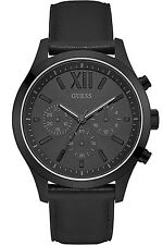 GUESS W0789G4,Men's Sport Multi-function,Steel Case,Leather Strap,WR