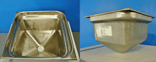 """Square Stainless Steel Drop In Bar Sink tray inset Cone Bottom 17.5""""x17.5x12""""dee"""