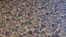"Vintage French Quality Cotton ""Art Deco"" Fabric of Provence printed St Etienne b"