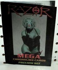 RAZOR -  MEGA CHROMIUM CARDS - PREVIEW SET