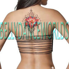 HIGH QUALITY LARGE PINK LOTUS FLOWER TEMPORARY TATTOO ARM SPINE BACK HIP STICKER