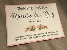 Handmade Personalised Vintage Rose Wedding Post Box Wishing Well Sign