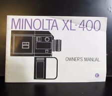 Used Minolta XL-400 camera Owners Manual Guide Englsih  O401530