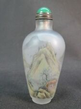 Chinese Autumn Scenery Inside Hand Painted Glass Snuff Bottle:Gift Box