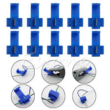 Electrical Cable Connectors 10x Blue Fast Quick Splice Lock Wire Terminals Crimp