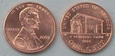 "USA 1 Cent Lincoln 2009 P ""Log Cabin"" unz."