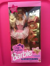 1991 Mattel Pretty Surprise Barbie Doll #9823 With Real Cosmetics For You #S-A