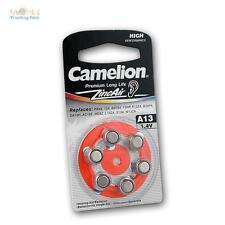 6er Pack Hörgeräte-Batterie A13, Hörgerät Batterien Hörgerätebatterien Camelion