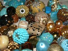NEW BLUE/Brown 20/pc Jesse James beads lot loose Beads mixed RANDOM PICK (bR5)